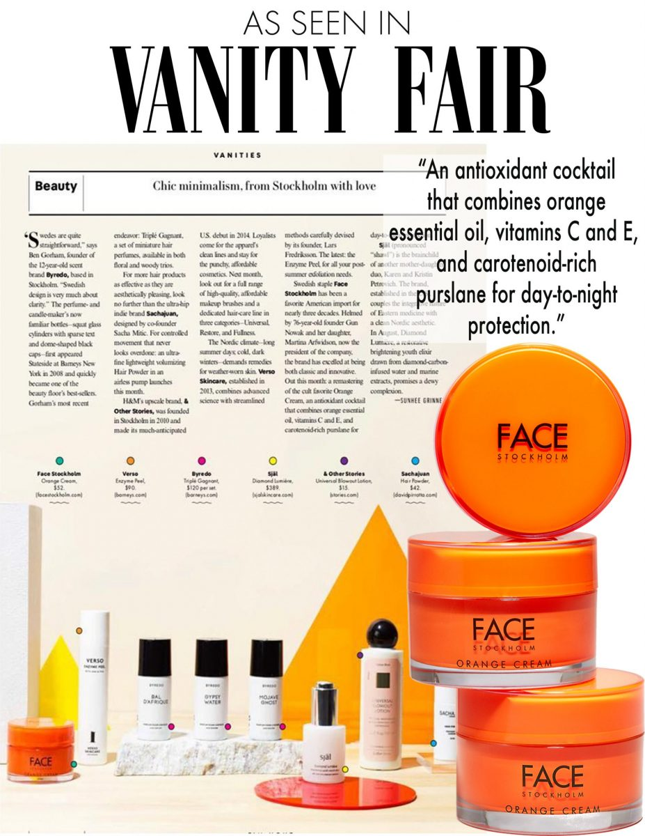 Orange Cream Vanity Fair Sign